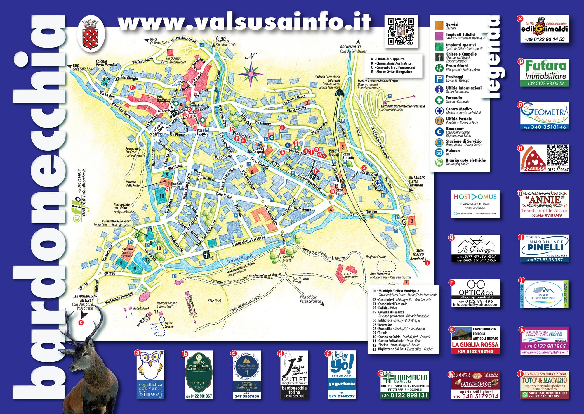 Bardonecchia Cartina Geografica.Valsusainfo Valchisoneinfo Bardonecchia La Guida Turistica E Le Mappe Informative